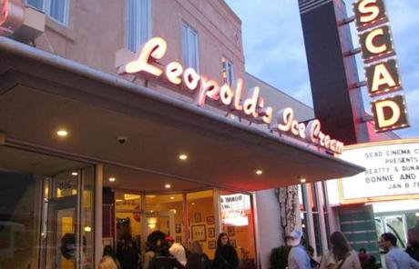 Flavors like butter pecan, tutti-frutti, and caramel swirl are available at Leopold's Ice Cream.